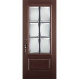 Albright Prehung DarkWalnut Door Collection