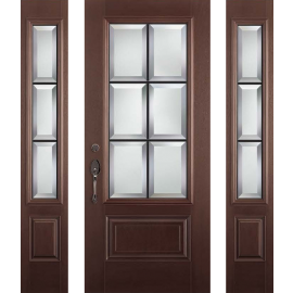 Albright Prehung DarkWalnut Door Collection 2 Sidelites