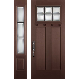 Albright Dental 6-8 Prehung DarkWalnut Door Collection 1 Sidelite Left
