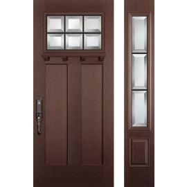 Albright Dental Prehung Door Dark Walnut Sidelite Right